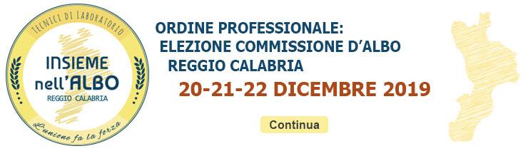 Ordine Professionale: Elezione Commissione d'Albo Reggio Calabria